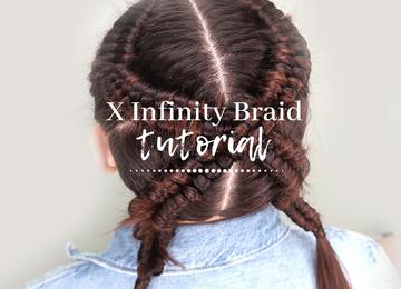 Trenza en forma de letra X
